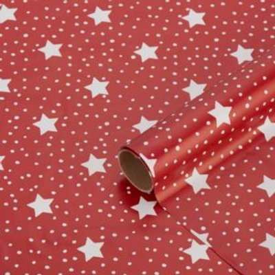 Red Stars & snow Wrapping paper