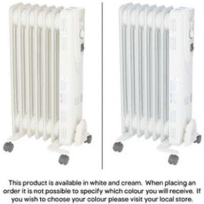 Electric 1500W Beige Oil filled radiator - 3663602910824