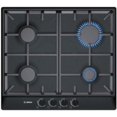 4242002488097   Bosch PCP616B90E 4 Burner Black Brushed Steel Gas Hob