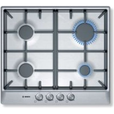 Bosch PCP6A5B90 Gas Hob  Brushed Steel - 4242002837468