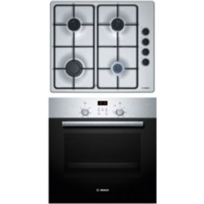 4242002908731 | Bosch HBN2PBP6E1 Stainless Steel Single Oven   Gas Hob Pack