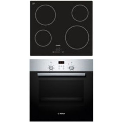 4242002908748 | Bosch HBN2PKE6E1 Stainless Steel Single Oven   Ceramic Hob Pack