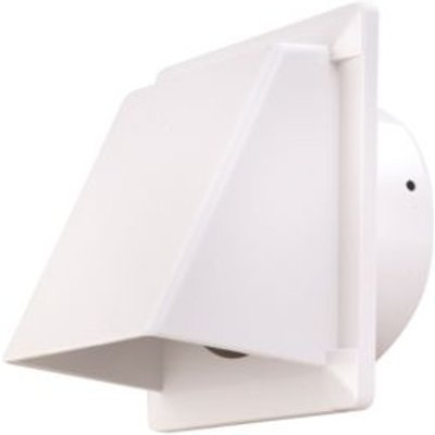 Manrose White External Hooded Wall Vent  W 110mm - 5020953930730