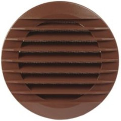 Manrose Brown External Hooded Wall Vent - 5020953930761