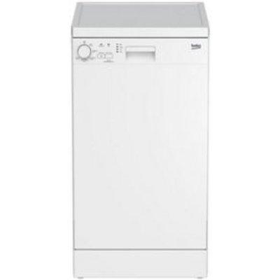 Beko DFS05010W Freestanding Slimline Dishwasher  White - 5023790035361