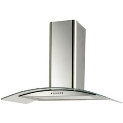 Cooke   Lewis CLGCH90 C Curved Glass Cooker Hood   W  900mm 5052931055722