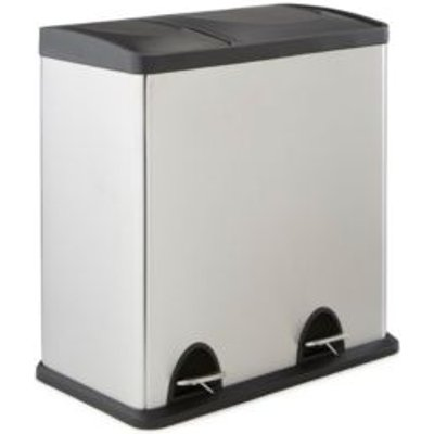 5052931310548 | Cooke   Lewis Stainless Steel Rectangular Recycle Pedal Bin
