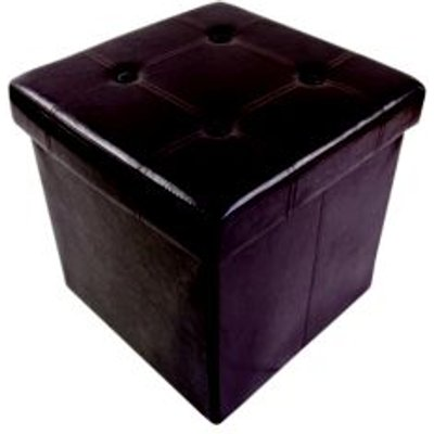 Brown Storage Ottoman Cube  H 375mm  W 375mm  D 380mm - 5052931557912