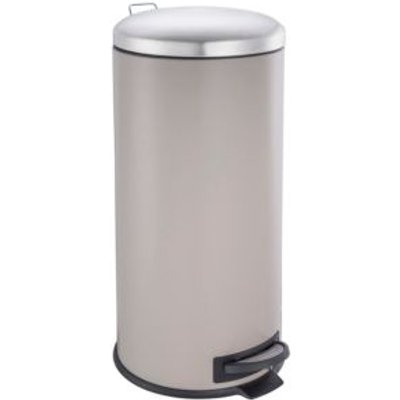 5052931603275 | Cooke   Lewis Abora Soft Close Matt Cream Iron Round Pedal Bin  30L