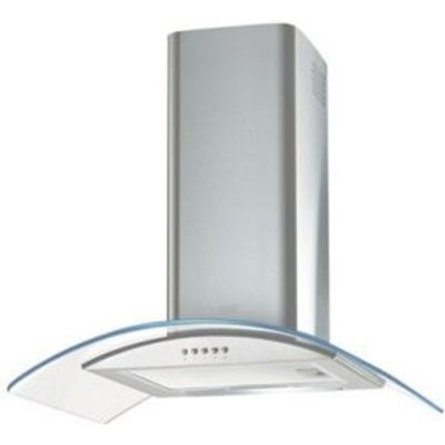 Cooke   Lewis CLGCLED60SS Steel   Glass Chimney Cooker Hood   W  600mm - 5052931847761