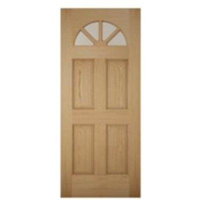 Carolina White Oak Veneer Glazed Front Door   H 2032mm  W 813mm 5397007097924