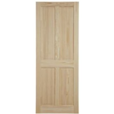 5397007099980 | 4 Panel Clear Pine Internal Unglazed Door   H 2040mm  W 926mm