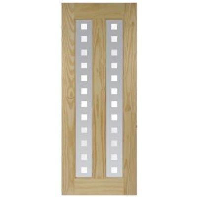5397007100785 | Vertical 2 Panel Clear Pine Glazed Internal Door   H 2040mm  W 726mm