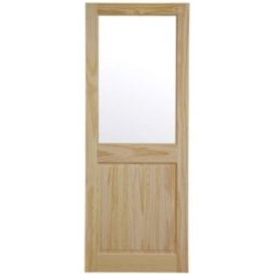 5397007100945 | 2 Panel Clear Pine Glazed Internal Standard Door   H 1981mm  W 762mm
