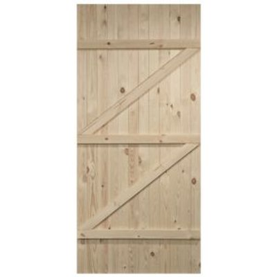 5397007102727 | Cottage Panelled Ledged And Braced Knotty Pine Internal Unglazed Door   H 1981mm  W 686mm