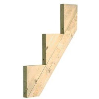 Softwood 3 step riser  L 813mm - 0725668600200