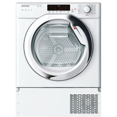 Hoover HTDBW H7A1TCE-80 White Built-in Heat pump Tumble dryer  7kg