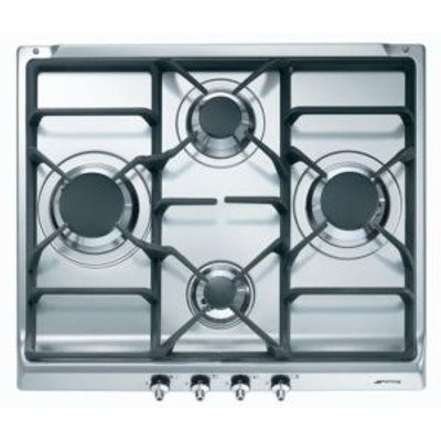 8017709112059 | Smeg SE60SGH3 4 Burner Cast Iron Gas Gas Hob