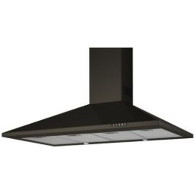 Designair CH110BK Painted Steel Modern Silver Effect Chimney Cooker Hood   W  1100mm 8422248058384