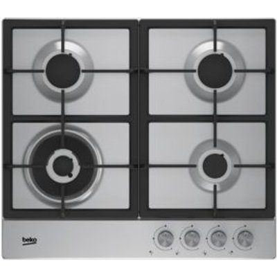 Beko HQAW 64225 SX 4 Burner Grey Stainless Steel Gas Hob - 8690842130892