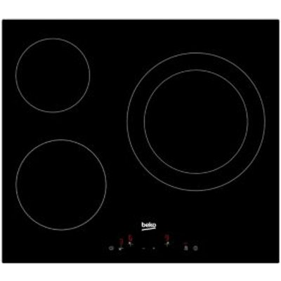 Beko HQC 63402 E 3 Burner Black Glass Ceramic Hob - 8690842131196