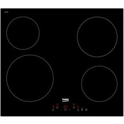 Beko HQC 64401 4 Burner Black Glass Ceramic Hob - 8690842131318