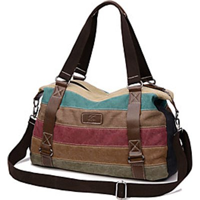 Women Bags Fall Canvas Tote for Casual Outdoor Brown