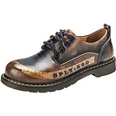 Men's Oxfords Comfort Combat Boots Fall Winter Leather Casual Outdoor Flat Heel Burgundy Blue Brown