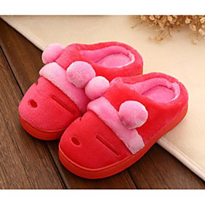 Girls' Shoes Fleece Fall Winter Comfort Slippers  Flip-Flops For Casual Blushing Pink Coffee Purple