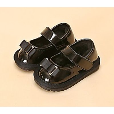 Girls' Shoes Leatherette Spring Fall Comfort Loafers  Slip-Ons For Casual Blushing Pink Black
