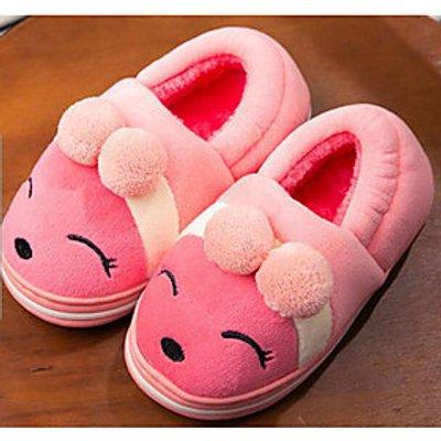 Girls' Shoes Fleece Fall Winter Comfort Slippers  Flip-Flops For Casual Light Blue Blushing Pink Cof