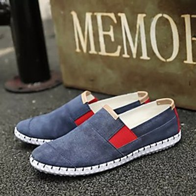 Men's Shoes PU Spring Fall Comfort Loafers  Slip-Ons For Casual Beige Gray Blue
