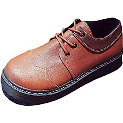 Women's Shoes PU Spring Fall Comfort Oxfords Round Toe For Casual Dark Brown Black