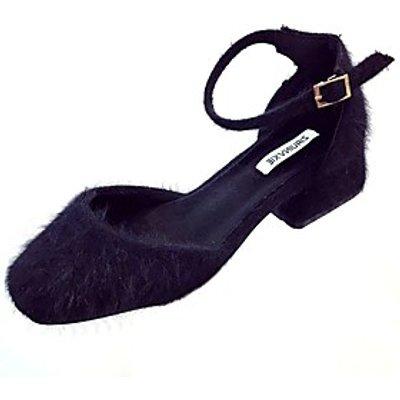 Women's Shoes Rubber Winter Comfort Heels Round Toe Buckle For Outdoor Light Brown Black