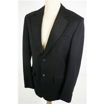 "Mandy Edwards [Size: Medium, 38"" chest, reg fit] Midnight Black  Smart/Bespoke Wool  Designer Sing"
