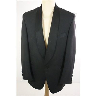 "Embassy Size: Medium, 38"" chest, reg fit Midnight Black  Smart/Bespoke Wool Blend Designer Single"