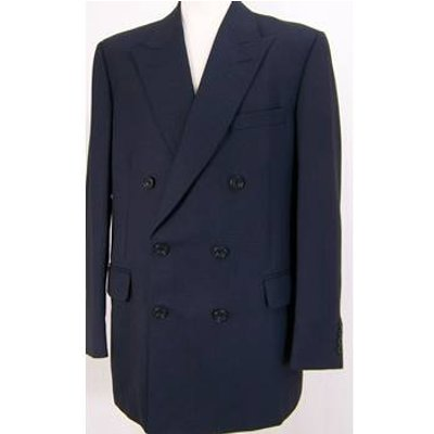 Gieves & Hawkes - 42R - navy wool dobby weave - Classic double breasted jacket