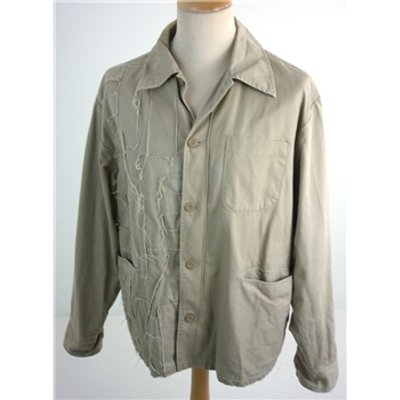 "Eitienne Ozeki Size: Large, 42"", short length  Khaki Brown Casual/Worker Style Thread Detailed Des"