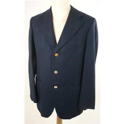 "Vintage Aquascutum Size: Medium, 38"" chest, reg fit Navy Blue Smart/Stylish Cashmere Designer Sing"