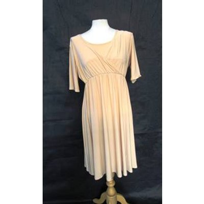 Formal maternity gown - Bluebelle - Size: 12 - Beige - Evening