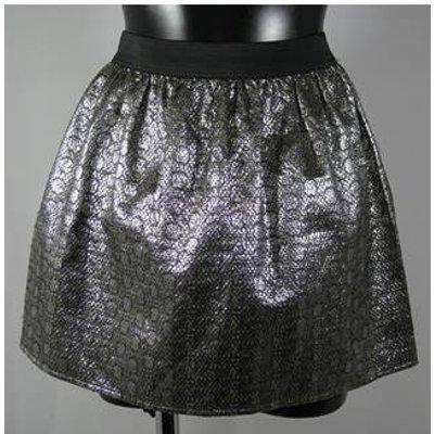 BNWT Miss Selfridge Petites Mini Skirt - Silver - Size 12 Miss Selfridge - Size: 12 - Metallics