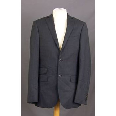 M&S Marks & Spencer - Size: M - Grey - Double breasted suit jacket