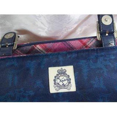 Ness Large Pink Tartan Messenger / Satchel style bag. Ness - Size: M - Pink