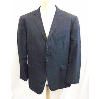 Jaegar - Size 46 R chest  Blue and fine grey checkered pattern jacket