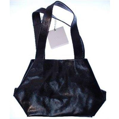 Kisim Black Leather Handbag