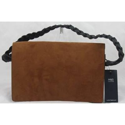 NWOT M&S Collection tan faux suede bag