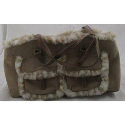 Jane Shilton Beige fur trimmed handbag
