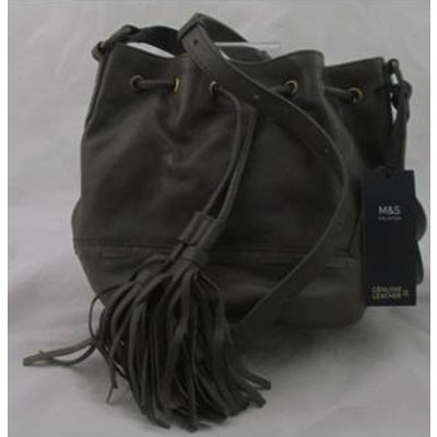 NWOT M&S Collection Khaki coloured drawstring bag