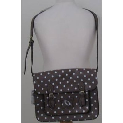 BNWT LYDC Brown polka dot satchel