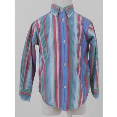 Ralph Lauren Size 3 Toddler Multi-coloured Stripe Long Sleeve Shirt